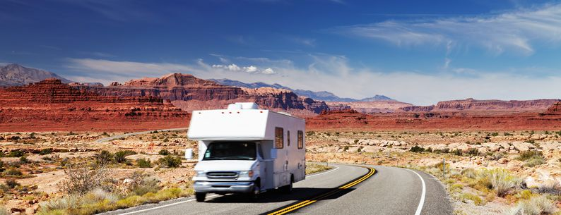 rv on the road