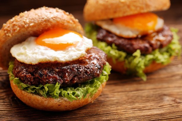 Fried Egg on Hamburger