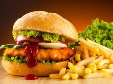 Fried Chicken Sandwich with Fries