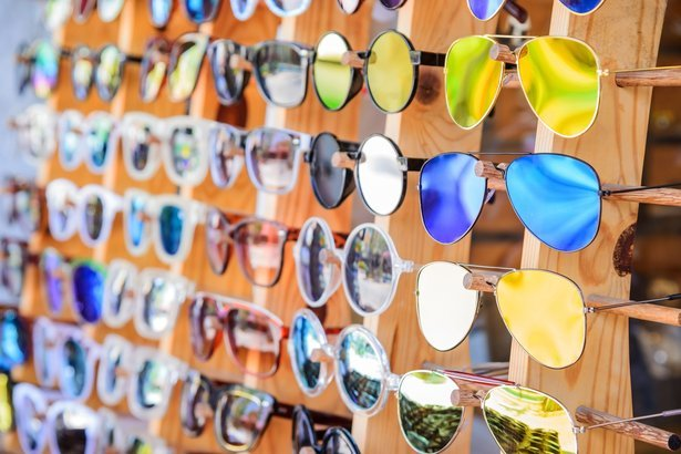 sunglasses at store