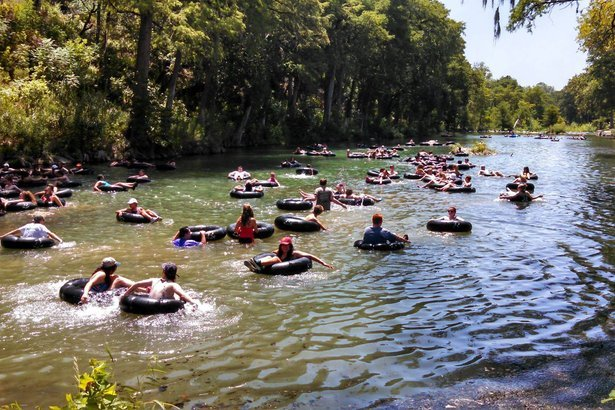 tubing in Guadalupe River, Texas