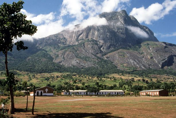 rocky cliffs of Mulanje Massif and Forest Reserve, Malawi