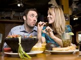 cute couple dining at a Mexican restaurant