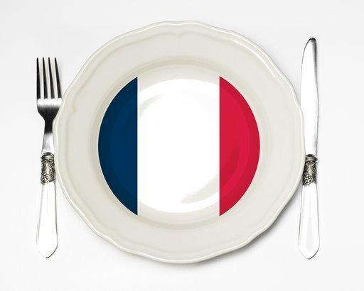 french flag on plate