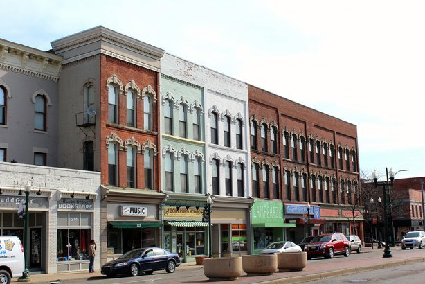 downtown Ypsilanti, Michigan
