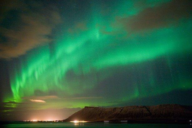 Northern Lights in Iceland near Reykjavík