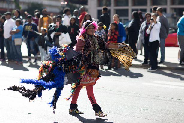 senior in Bayou Classic Parade in New Orleans, Louisiana