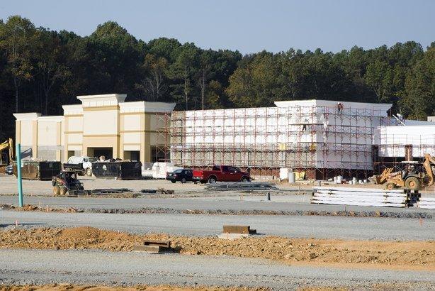 new shopping center under construction