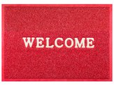 red welcome doormat