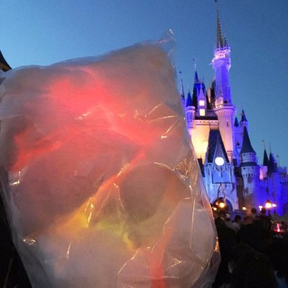 Glow-In-The-Dark Cotton Candy at Disney