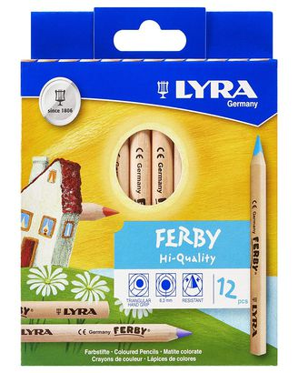 12 Lyra Ferby Giant Colored Pencils