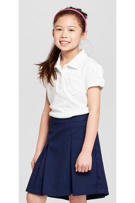 Cat & Jack Girls' Short-Sleeve Uniform Polo Shirt