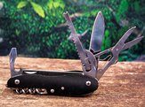 Pocket knife in the outdoors