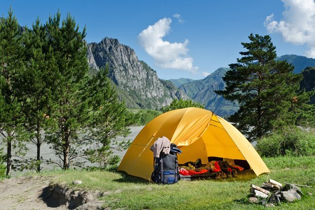 C&ing tent and backpack near mountain river in the summer ... & Best Camping Tents - 10 Picks for Backpacking Solo or Families ...