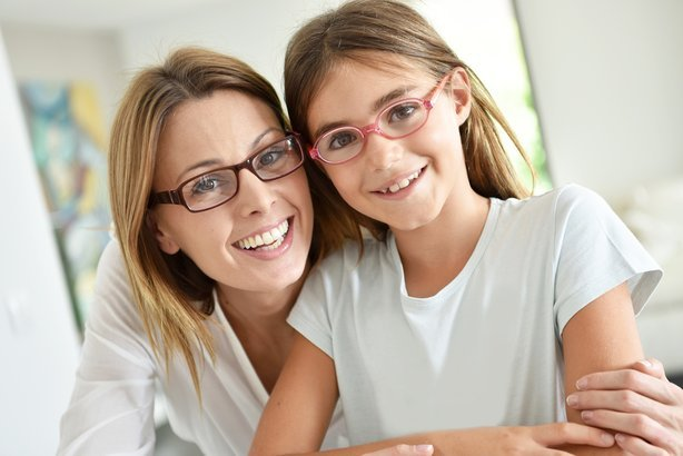 mother and daughter with glasses