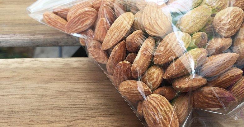 almonds in snack bag