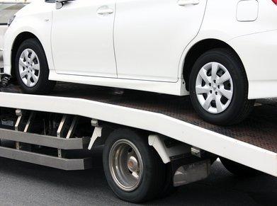 car loaded for transport
