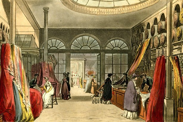 Harding Howell and Company's Grand Fashionable Magazine Shop in London, 1796