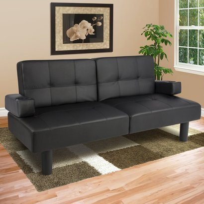 Best Choice Products Faux Leather Fold Down Futon