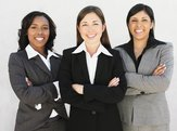 multi-ethnic businesswomen with arms crossed