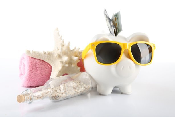 piggy bank vacation concept