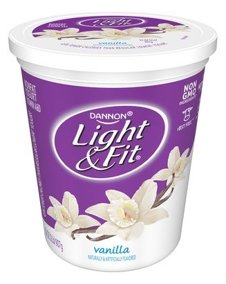 Vanilla Dannon Light & Fit Yogurt
