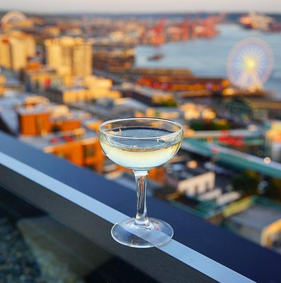 drink at rooftop bar