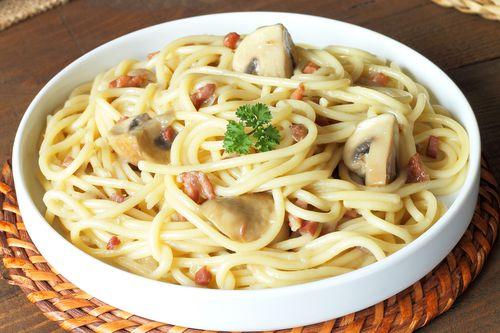 Mushroom & Bacon Pasta