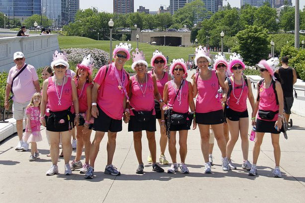 participants in Avon Walk for Breast Cancer