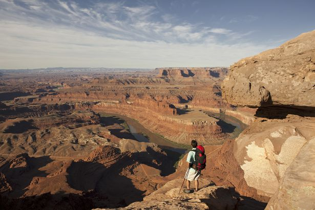 person at Dead Horse Point State Park, Utah