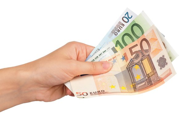 man hand with Euro