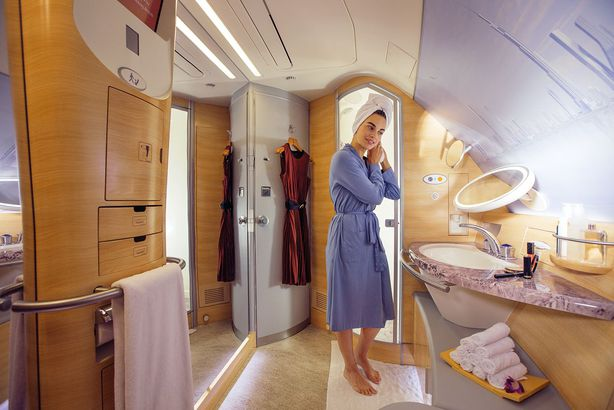 Onboard Shower Spa, Emirates