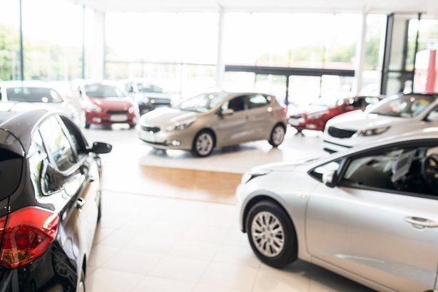 new cars at new car showroom