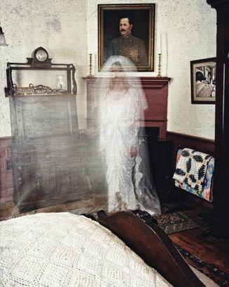 Wedding Dress Female Spirit In Hotel Room