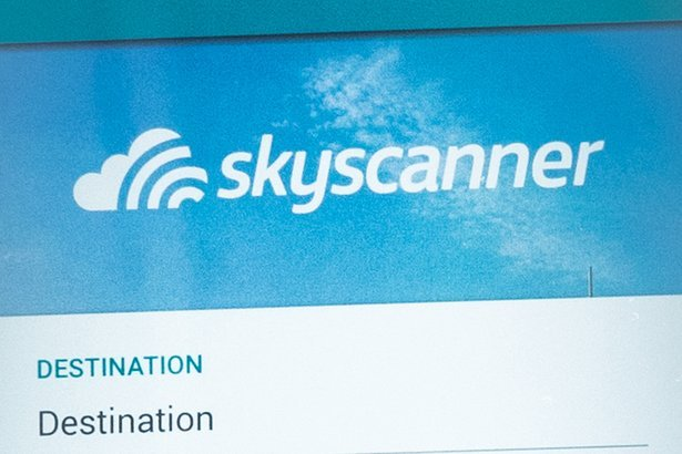 Skyscanner app on mobile