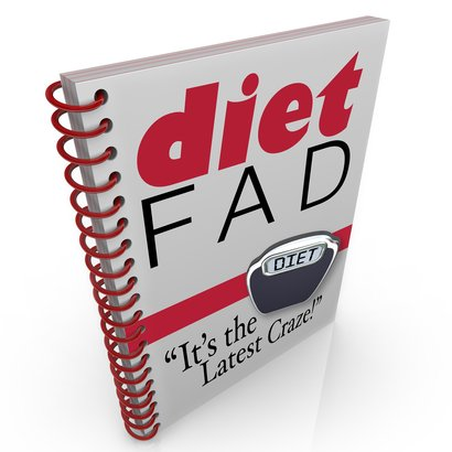 spiral-bound book with the words Diet Fad