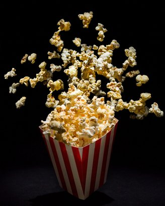 popcorn in the air