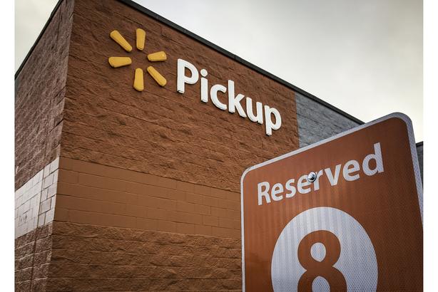 Walmart pickup area at store