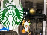 Pumpkin Spice Latte sticker on Starbucks window