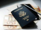 American passport and money