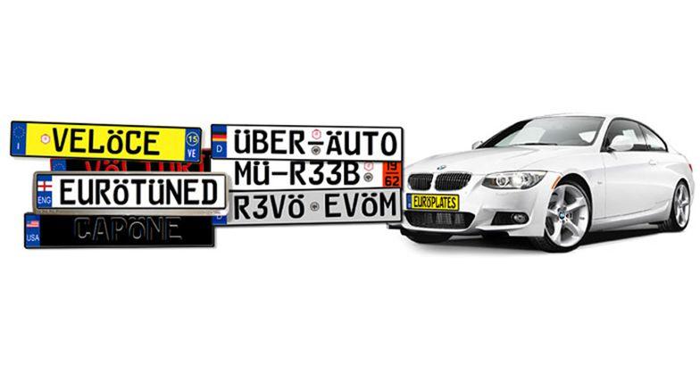 Fake European License Plates