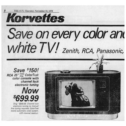 "1979 — Save $150 on an RCA 25"" TV"