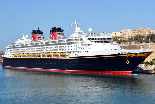 Cruise liner Disney Magic at Port of Valetta, Malta