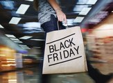 moving shopper with Black Friday bag