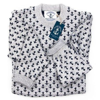 9daa440d6f36 Kiel James Patrick Original Cotton Anchor Sweater