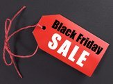 'Black Friday Sale' on red tag