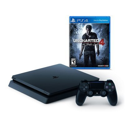 PlayStation 4 Slim 500GB with Uncharted 4