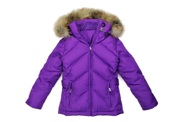 Purple winter coat with furry hood
