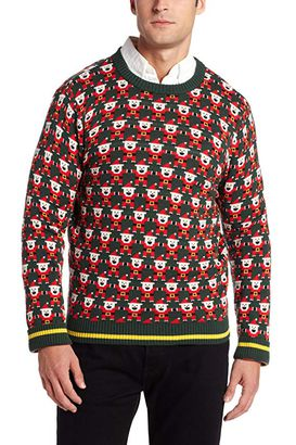 fb7c3a7463fb3 Alex Stevens Men s 8-Bit Santa Ugly Christmas Sweater