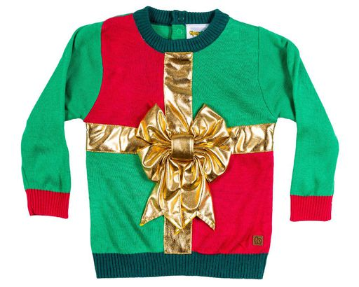 28ec8b028d8d4 Ugly Bow Christmas Sweater for Babies and Toddlers
